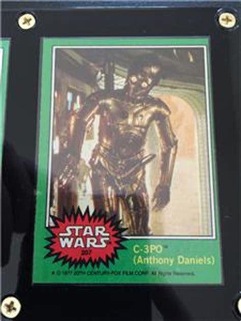 anthony daniels error card 1977 topps star wars 207 c 3po anthony daniels error x
