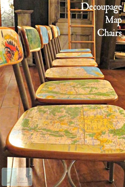 Decoupage Laminate Furniture - 25 best decoupage chair ideas on