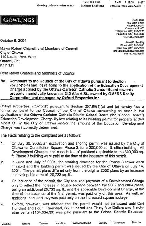Complaint Letter To City Council Report Template