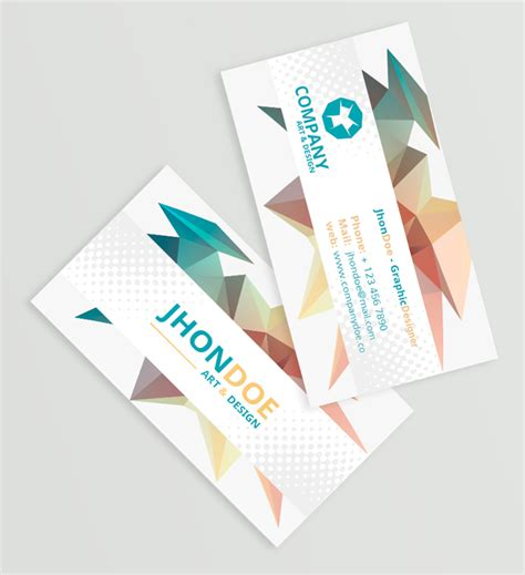 3d business card template