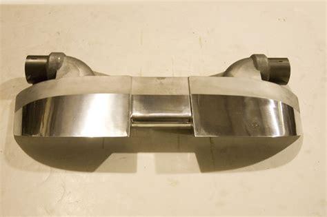 c5 corvette exhaust tips slp c5 corvette cast aluminum dual outlet universal