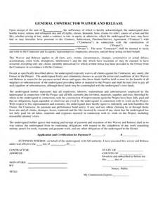 contractor liability waiver form 2 free templates in pdf
