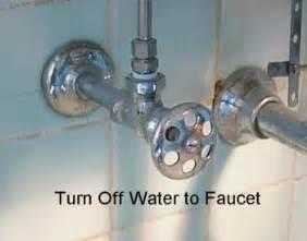 water shut off under sink repair a two handle cartridge faucet turn off water