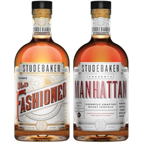 manhattan drink bottle review studebaker old fashioned and manhattan bottled
