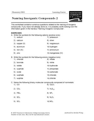 vcc lc worksheets chemistry chemistry