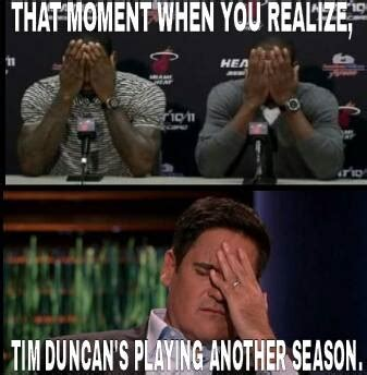 Tim Duncan Meme - nba players react to tim duncan returning for another