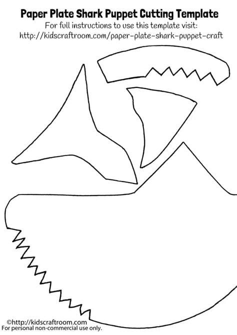 card board shark template paper plate shark puppet template craft room
