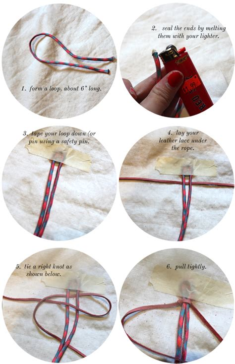 How To Make Macrame Bracelets Step By Step - diy leather climbing rope macrame bracelets the stripe