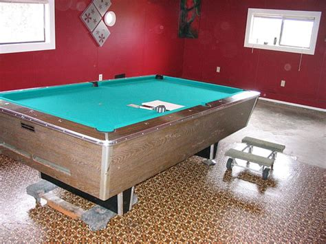 how to put pool table on dollies