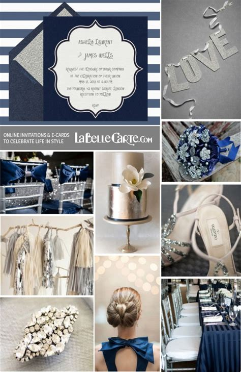 An elegant wedding in Navy Blue & Silver: Online wedding