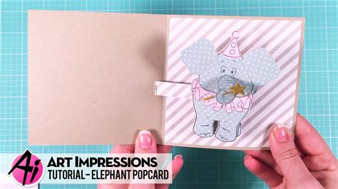 elephant pop up card template popcard tutorial elephant template