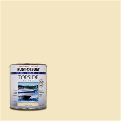 rust oleum marine 1 qt gloss oyster topside paint of 4 207001 the home depot