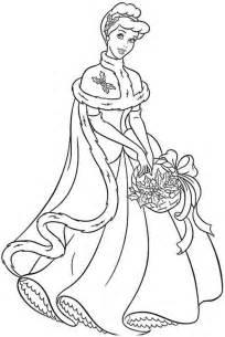 cartoon printable princess cinderella coloring pages coloring tone