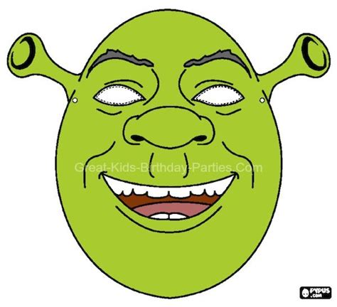 free shrek painting free printable masks shrek mask