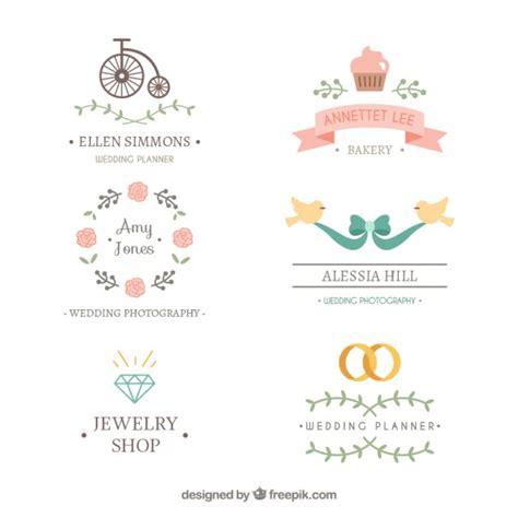 Hochzeit Ohne Plan by Sch 246 Nes Hochzeits Logos Der Premium Vektor