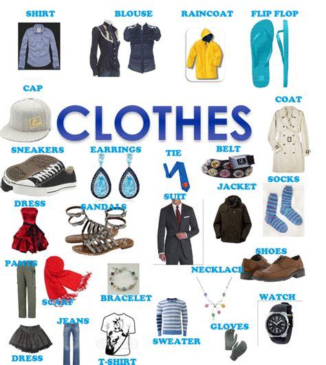 imagenes de ropa en ingles y español vocabulario de ropa de vestir en ingles para aprender