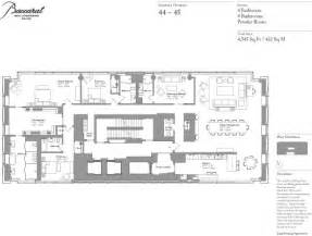 residences floor plan baccarat hotel and residences floor plan apartment 44 floor plans pinterest floors blog