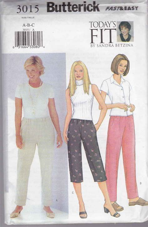 sandra jeans pattern review butterick sewing pattern 3015 misses size 16 22 today s
