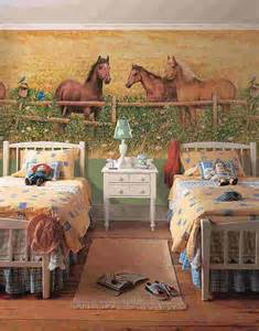 Horse Wall Murals horses at fence wall mural 252 72007