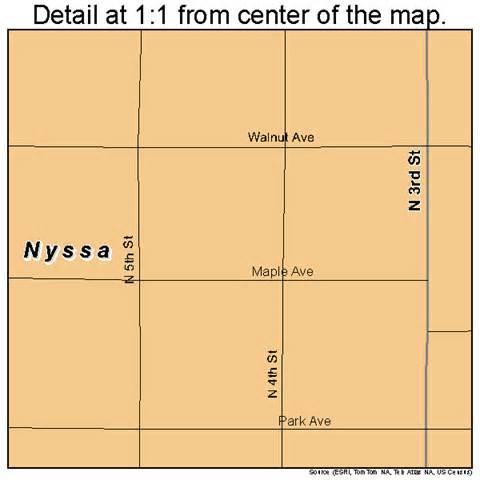 nyssa oregon map 4153750