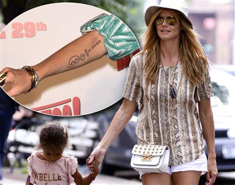 heidi klum tattoo removal heidi klum photos worst breakup tattoos ny