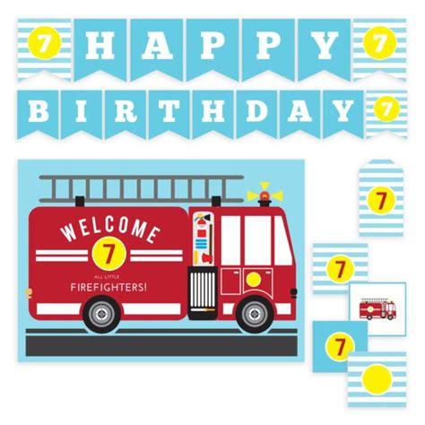 fire truck birthday set templates mockaroon