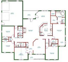 Open Floor Plan Blueprints Benefits Of One Story House Plans Interior Design Inspiration
