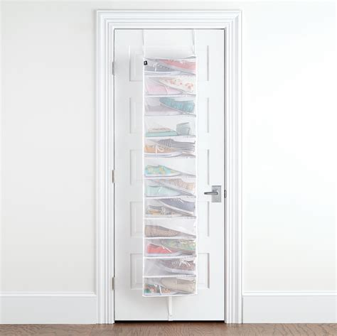 over the door organizer umbra 24 pair scala over the door shoe organizer the