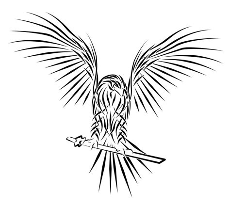 tribal hawk tattoo hawk images designs