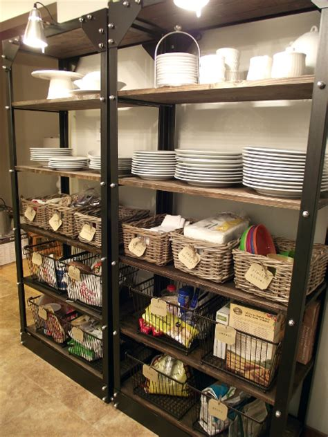 Open Pantry Shelves by Organizing Open Shelves