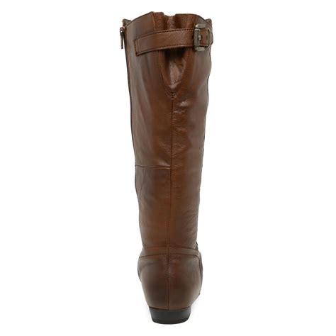 aldo becki w extended calf knee high boot in brown lyst