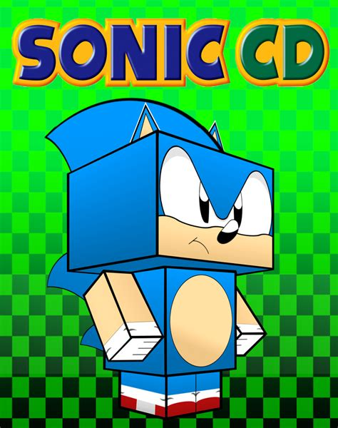Sonic Papercraft - sonic cd cubee by mikeyplater on deviantart