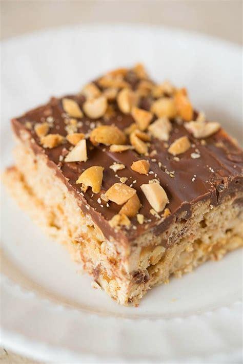 snickers rice krispies treats brown eyed baker