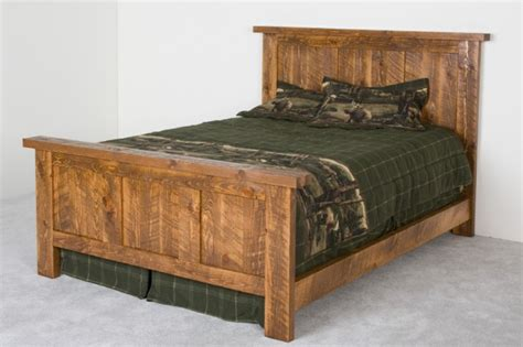barn wood bed pioneer barnwood bed panel style bed