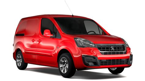 peugeot van 2017 peugeot partner van l1 electric 2017 3d model buy