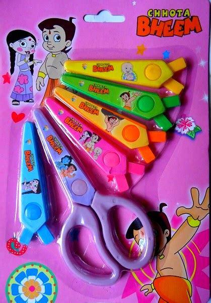 painting chota bheem chota bheem craft scissors with 6 blades
