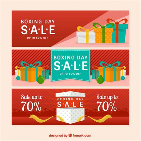day banners free set of boxing day banners vector free
