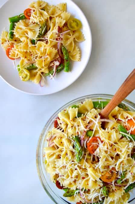 pasta salad italian dressing just a taste asparagus pasta salad with italian dressing