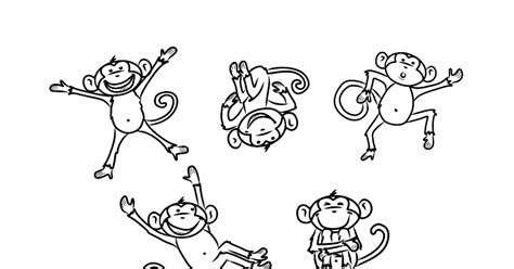 ten little monkeys coloring page bust out your crayons 5 little monkeys