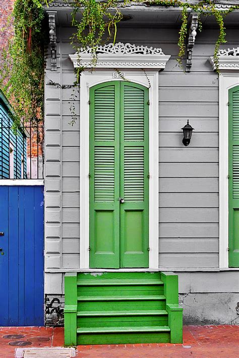 Exterior Doors New Orleans Green Front Door New Orleans Photograph By Christine Till