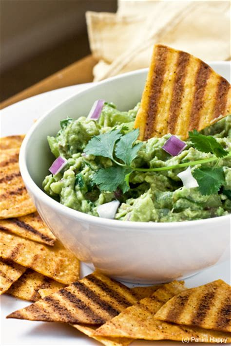 Recipe: Grilled Tortilla Chips and Grilled Tomatillo ... Guacamole And Tortilla Chips Healthy