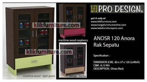 Rak Sepatu Pro Design harga rak sepatu pro design anosr 120 anora diskon promosi