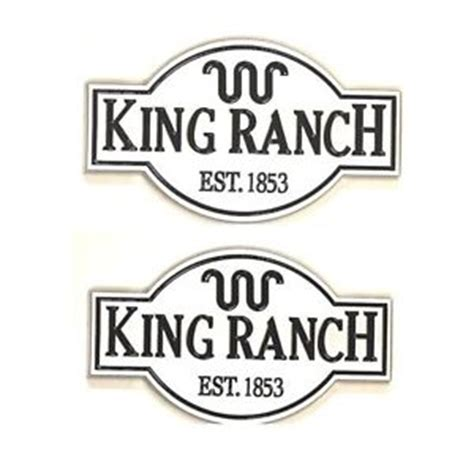 2x ford expedition f150 f250 f350 f450 king ranch emblem