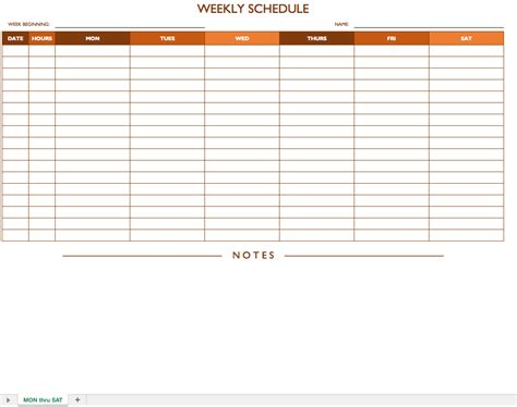 printable weekly schedule sun sat calendar template 2016
