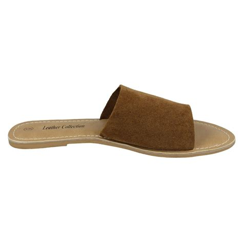 mules sandals leather collection style 072 flat mule sandals ebay