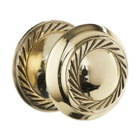 wilko door knob brass georgian 38mm at wilko