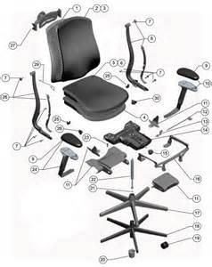 Chair parts as well steelcase think chair on herman miller arm chair