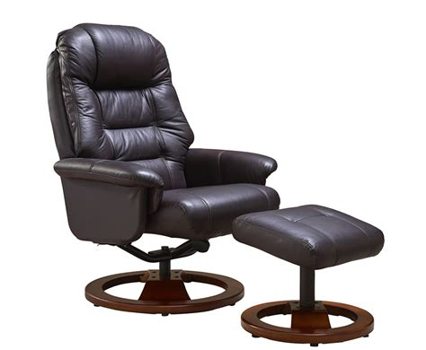 leather recliner chair and stool jeremiah red wine bonded leather swivel chair and foot stool