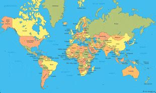 world map: a clickable map of world countries : )