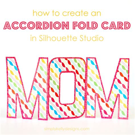 how to make an accordion card accordion fold card tutorial it s easy with silhouette